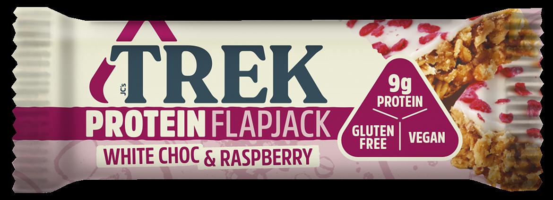 white chocolate and raspberry flapjack bar